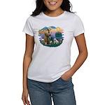 St. Fran #2/ English Bulldog (W) Women's T-Shirt