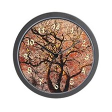 Fire Tree Wall Clock