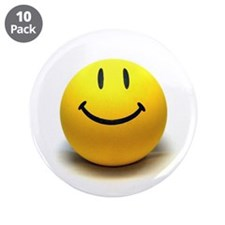 "Unique Smiley face 3.5"" Button (10 pack)"