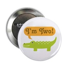 "Alligator 2nd Birthday 2.25"" Button"