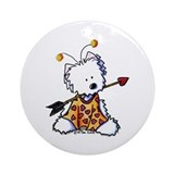 Love Bug Westie Ornament (Round)