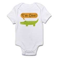 Alligator 1st Birthday Infant Bodysuit