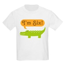 Alligator 6th Birthday T-Shirt