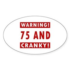Cranky 75th Birthday Decal