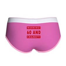 Cranky 60th Birthday Women's Boy Brief