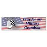Cute Military grandson Bumper Sticker