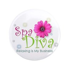 "Spa Diva 3.5"" Button (100 pack)"
