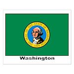 Washington State Flag Small Poster
