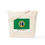 Washington State Flag Tote Bag