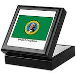 Washington State Flag Keepsake Box