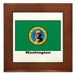 Washington State Flag Framed Tile