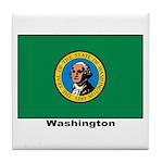 Washington State Flag Tile Coaster