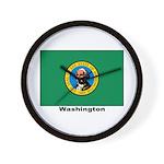 Washington State Flag Wall Clock
