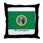 Washington State Flag Throw Pillow