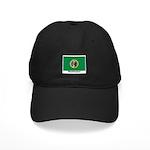 Washington State Flag Black Cap