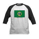 Washington State Flag Kids Baseball Jersey