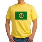 Washington State Flag (Front) Yellow T-Shirt