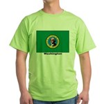 Washington State Flag Green T-Shirt