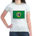 Washington State Flag Jr. Ringer T-Shirt