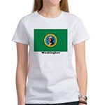 Washington State Flag (Front) Women's T-Shirt