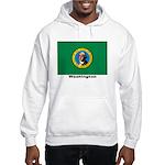 Washington State Flag (Front) Hooded Sweatshirt