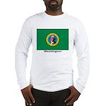 Washington State Flag Long Sleeve T-Shirt