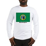 Washington State Flag (Front) Long Sleeve T-Shirt