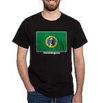 Washington State Flag (Front) Black T-Shirt