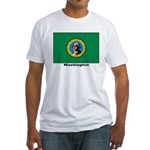 Washington State Flag (Front) Fitted T-Shirt