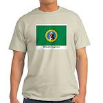 Washington State Flag (Front) Ash Grey T-Shirt