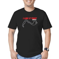 I like it tight Men's Fitted T-Shirt (dark)