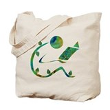 Green Reader Tote Bag