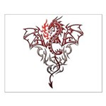 Fire Breathing Tattoo Dragon Small Poster