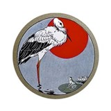 Crane Ornament (Round)