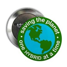 Hybrid Button - Saving the Planet