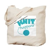 &amp;quot;Knit Happens&amp;quot; Tote Bag