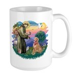 St Francis #2/ Golden Ret (B4) Large Mug