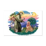 St Francis #2/ Golden Ret (B4) Mini Poster Print