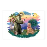 St Francis #2/ Golden Ret (B4) Postcards (Package