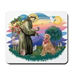 St Francis #2/ Golden Ret (B4) Mousepad