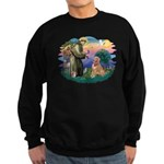St Francis #2/ Golden Ret (B4) Sweatshirt (dark)