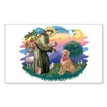 St Francis #2/ Golden Ret (B4) Sticker (Rectangle