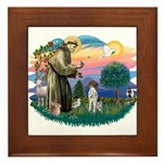 St. Fran #2/ German SH Pointer Framed Tile