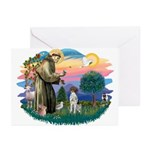 St. Fran #2/ German SH Pointer Greeting Cards (Pk