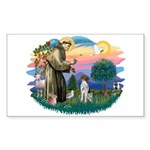 St. Fran #2/ German SH Pointer Sticker (Rectangle)