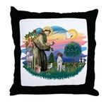 St. Fran #2/ German SH Pointer Throw Pillow