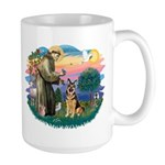 St. Fran #2/ German Shepherd (w) Large Mug