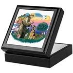 St. Fran #2/ German Shepherd (w) Keepsake Box