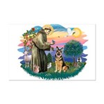 St. Fran #2/ German Shepherd (w) Mini Poster Print