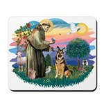 St. Fran #2/ German Shepherd (w) Mousepad